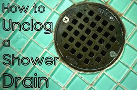how to clear a clogged shower drain 8