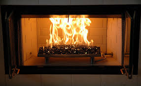 glass fireplace doors for gas logs