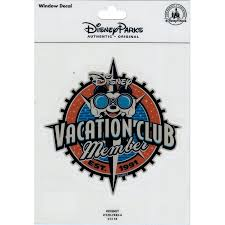 Disney Window Decal Disney Vacation Club Member 2016 Logo