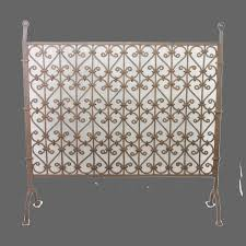 hand wrought iron fireplace screen
