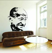 Black Dream On Walls Father Of India Mahatma Gandhi Great Personalities Wall Decals Rs 649 Piece Id 20360593773
