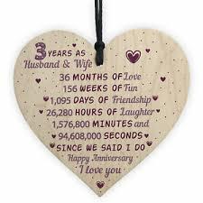 wedding anniversary gift wooden heart