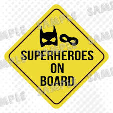 Superheroes On Board Decal Family Car Decal Funny Baby On Board Viny Nerd Under The Stairs