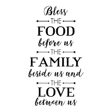 Bless The Food Handwritten Wall Quotes Decal Wallquotes Com