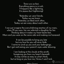 time runs so fast every quotes writings by atherv saxena