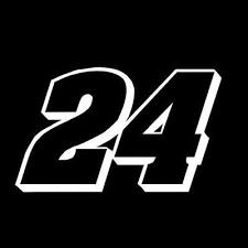 Number 24 Racing Window Decal Sticker Window Decals Decals Stickers Decals