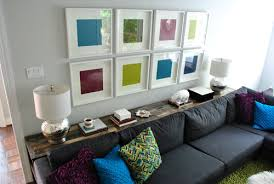 put on a console table behind a couch