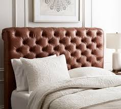 chesterfield leather headboard