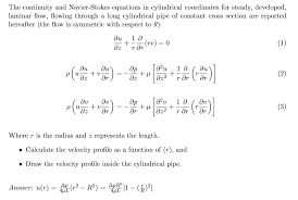 continuity and navier stokes equations