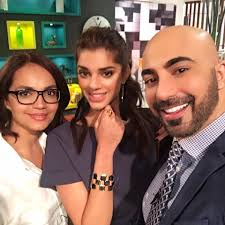 HSY With Aamina Sheikh & Sanam Saeed During Shooting - Arts ...