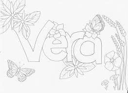 Kleurplaat Met Je Naam Vera Naamkleurplaat Kleurplaten Naam