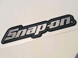 Amazon Com Snap On Tools Chrome Logo Decal Sticker Automotive
