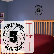Volleyball Wall Decal Personalized Volleyball Room Stickers Vinyl Decals For Sale Online