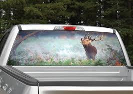 Elk In Fog Rear Window Graphic Miller Graphics