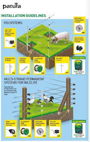 Installation Guidlines Pig Systems Multi Strand Systems For Wildlife Electric Fence Energizer Electric Fence Energizer