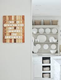 diy scrabble wood message board