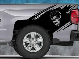 Product 2014 2015 2016 Chevy Silverado Vinyl Decal Sticker Splash Graphic Skull Stripe