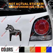 Swedish Dala Horse Decal Sticker Scandinavian Car Vinyl Pick Size Color B Car Stickers Aliexpress