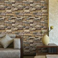 30x 3d Stone Wallpaper Brick Sticker Peel And Stick Wall Decals Home Decor Ebay