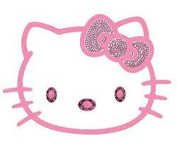 Amazon Com Hello Kitty Sanrio Head Face W Pink Ribbon Crystals Car Truck Suv Home Office Window Decal Sticker Cling Blin Hello Kitty Shop Hello Kitty Kitty