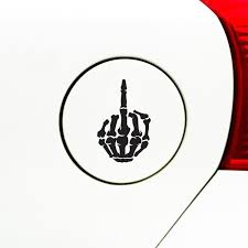 The Decal Store Com By Yadda Yadda Design Co Gas Skeleton Hand Middle Finger Car Gas Cap Vinyl Decal Sticker S
