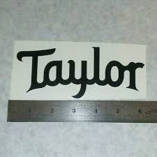 Taylor Guitars Vinyl Decal Sticker Blk Wht Red Blue Logo Window Bass Acoustic 3 50 Picclick