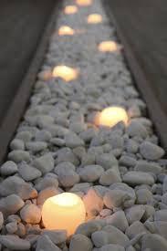 bed of grey pebble stones
