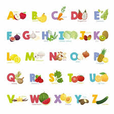 Decowall Ds 8031 Fruit And Vegetable Alphabet Kids Wall Stickers Wall Decals Pee Ebay