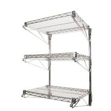 wall mounted wire shelves industrial