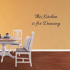 This Kitchen Is For Dancing Vinyl Wall Decal Quote Dance Lettering Words Sticker Xj484 Walmart Com