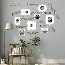 Amazon Com Luckkyy Family Wall Decal Set Of 12 Family Words Quote Vinyl Family Wall Decal Family Room Art Decoration Living Room Decor Decoration For Home Decor Brown Kitchen Dining