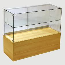 frameless glass showcases from our