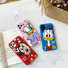 Ốp điện thoại Silicon dẻo hình hoạt hình vịt Donald chuột Minnie ...