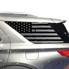 Distressed Usa Flag Decal For 2020 Ford Explorer 3rd Windows Matte B Tactical Decals