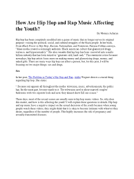 How HipHop and Rap Affects Youths | Hip Hop | Youth