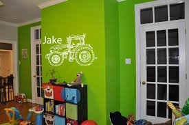 Amazon Com Tractor Decal Personalized Name Customized Name Sticker Farm Life Boys Room Nursery Idea Kids Decor Wall Decal Art Vinyl Sticker Tr285 A Home Kitchen