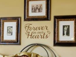 Forever In Our Hearts Wall Decal
