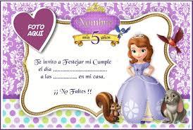 Corel Draw Luna Julieta Invitaciones Princesa Sofia