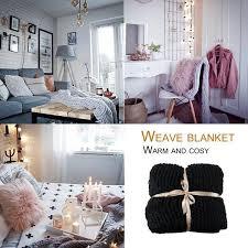 Shop Hand Made Thick Knitting Line Braided Carpet Bedroom Rug Kids Soft Nap Blanket 80x100cm Beige Overstock 22539347