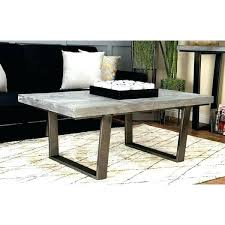 concrete top coffee table round low