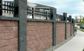 fence wall design cinder block walls