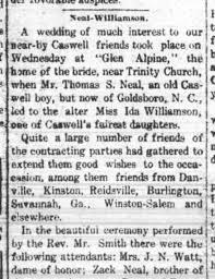 Ida Williamson Wedding Announcement - Newspapers.com