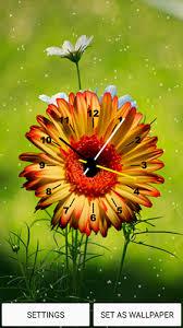 flowers clock live wallpaper for
