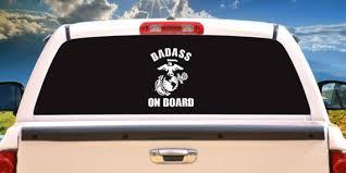 Badass On Board Usmc Marine Corps Vehicle Car Truck Window Etsy