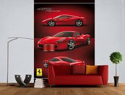 Ideas Of Ferrari Wall Mural Decorating Gearon Hoffman Home