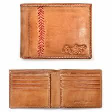 stitch bifold tan leather wallet