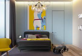 Yellow Light Blue Kids Room Awesome Decors
