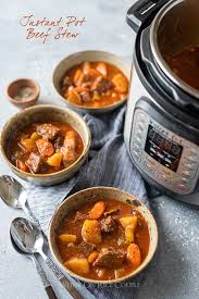 hearty beef stew in slow cooker or