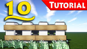 Minecraft 10 Ways To Make A Fence How To Build Tutorial For Modern House Youtube