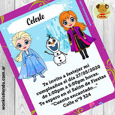 Frozen Invitacion Whatsapp